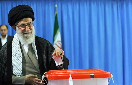 Ali Khamenei casting his vote in 2013 presidential election Ayatollah khamenei. by YPA.ir 01.jpg