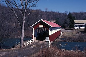 Barronvale Bridge - Image: BARRONVALE COVERED BRIDGE