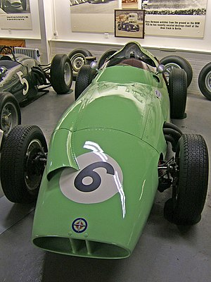 British Racing Motors - The British Racing Partnership BRM P25 with which Stirling Moss took second place in the 1959 British Grand Prix.