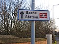Bache station sign, Liverpool Road, Upton-by-Chester.JPG