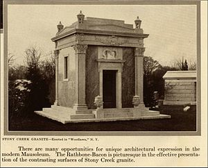 Virginia P. Bacon - The Bacon Mausoleum in Woodlawn Cemetery (Bronx)