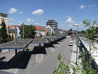 Memmingen station - The central bus station