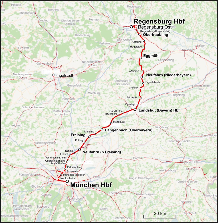 Bahnstrecke Münchenregensburg Wikipedia