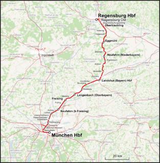 Munich–Regensburg railway railway line