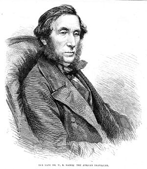 William Balfour Baikie - Portrait from Illustrated London News, 28 January 1865
