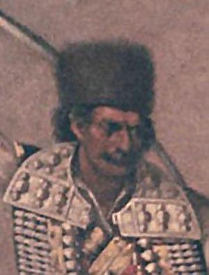 Bajo Pivljanin - Detail from Bajo Pivljanin kills a Turk (1878)