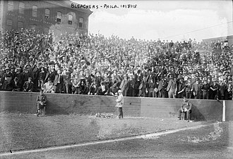 Baker Bowl - Baker Bowl's bleachers in 1915.