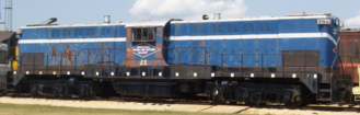 Surviving example of a Baldwin DT-6-6-2000 transfer engine, a post-war diesel electric locomotive produced between 1946 and 1950. Baldwin DT-6-6-2000 at Illinois Railway Museum (MNS 21).png