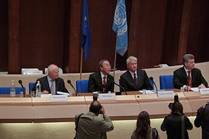 Ban Ki-moon at the 60th anniversary of the Eur...