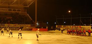 Bandy World Championship - The old outdoor arena in Västerås, where Finland in 2004 won the final for the so far only time