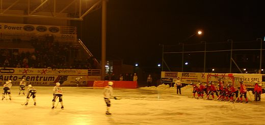 The old outdoor arena in Vasteras, where Finland in 2004 won the final for the so far only time Bandy corner.jpg