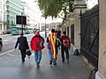 Barcelona fans in London for the Chelsea match - geograph.org.uk - 1290287.jpg