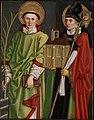 Bartholomäus Zeitblom - Die Heiligen Laurentius und Wolfgang - 42 - Staatliche Kunsthalle Karlsruhe.jpg