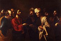 Bartolomeo Manfredi - Il tributo a Cesare - Google Art Project.jpg