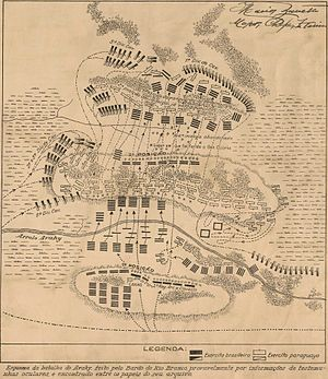 Battle of Avay - Map of the battle