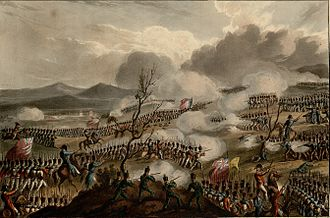 Foreign relations of the United Kingdom - The Peninsular War battle between the French and the British armies in 1813