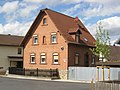 Bauweg 1, Kist, Gebäude mit Ziegelsteinfassade, 19. Jahrhundert.jpg