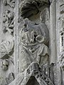 Bazas (33) Cathédrale Saint-Jean-Baptiste Façade ouest Portail central 2ème voussure 01.JPG