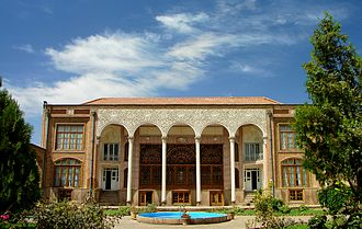 Behnam House - The Behnām House in Tabriz. The building in view is the Winter Building which stands to the North of the inner courtyard and faces towards the South.