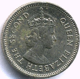 Coins of the Belize dollar - Image: Belize 10centobv 1981