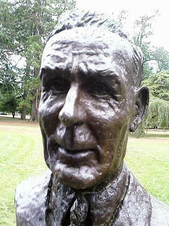 Ben Chifley - Bust of sixteenth Prime Minister of Australia Ben Chifley by sculptor Ken Palmer located in the Prime Minister's Avenue in the Ballarat Botanical Gardens