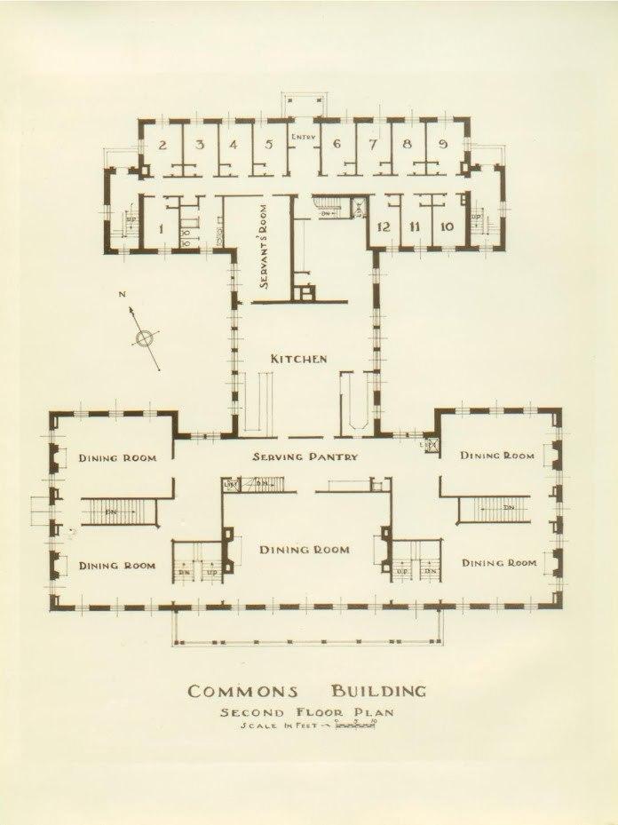 Bennington College Commons Building Floor Plan