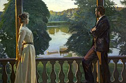 BERGH Richard Nordic summer evening 1899-1900