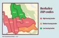 Berkeley, California ZIP codes by housing burden - The Daily Californian.png