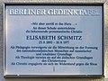 Berliner Gedenktafel Barbarastr 9 (Lank) Elisabeth Schmitz.jpg