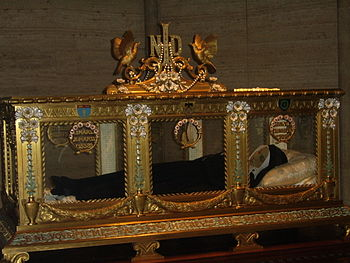 English: Bernadette Soubirous - sarcophagus in...