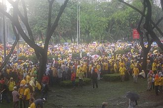 Malaysian general election, 2008 - The 2007 Bersih rally was largest public protest since 1998. HINDRAF organised another large-scale rally a few weeks later.