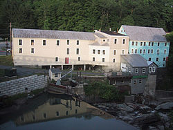 Old mill buildings in Bethel, Vermont