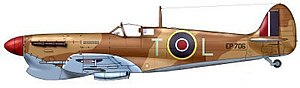 George Beurling - Beurling's Spitfire VC in which he scored most of his victories in Malta