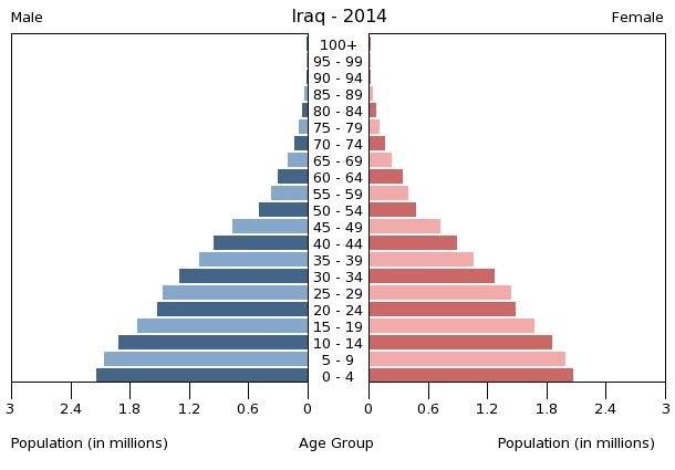 Bevölkerungsstruktur Irak 2014