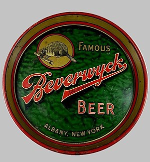 Beverwyck Brewery - An old metal serving tray, advertising Beverwyck Brewing Company.