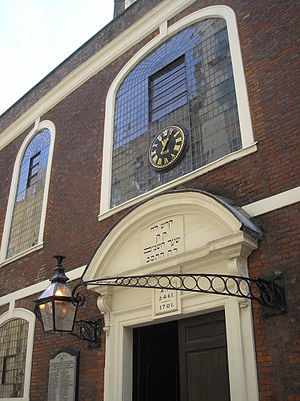 History of the Jews in England - Bevis Marks Synagogue, the first synagogue of Spanish-Portuguese Jews, completed 1701, oldest synagogue in the UK, was built by the first generation of readmitted Jews to England
