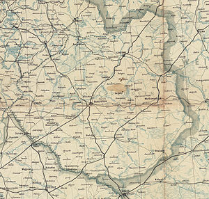 "Bezirk Bialystok - A July 1944 German map of Bezirk Bialystok, labelled ""South East Prussia""."