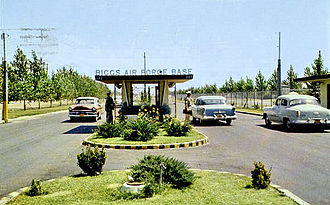 Biggs Army Airfield - Biggs AFB gate in the late 1950s