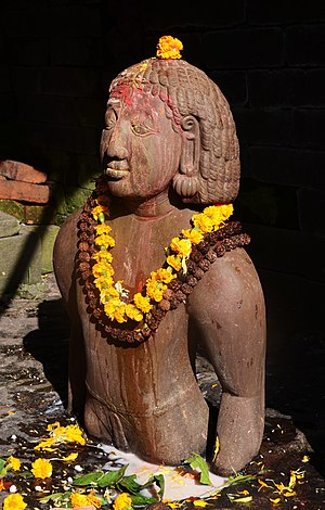 Kirat Mundhum - Birupakshya, the ancestor of the Kirati people in the Pashupatinath Temple of Kathmandu.