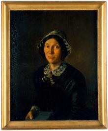 Henriette Bitzius-Zeender, die Frau von Jeremias Gotthelf, ca. 1850 von Friedrich Walthard porträtiert (Quelle: Wikimedia)