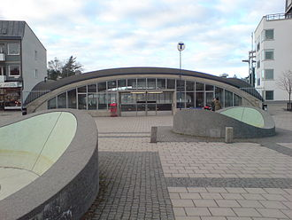 Let the Right One In (film) - The characteristic subway station of Blackeberg, which features in the film
