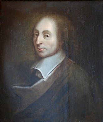 Blaise Pascal - Painting of Blaise Pascal made by François II Quesnel for Gérard Edelinck in 1691.