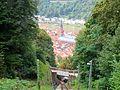 Blick am Spätnachmittag auf die Heidelberger Altstadt von der Heidelberger Bergbahn aus .JPG