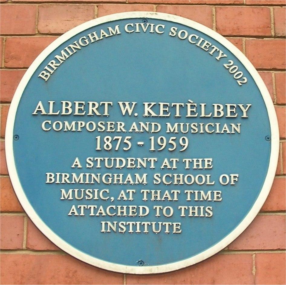 Blue plaque Albert Ketelbey