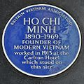 Blue plaque Ho Chi Minh, Haymarket, London.jpg