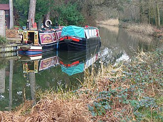 Sheerwater - Image: Boats on the Basingstoke Canal (geograph 2268205)