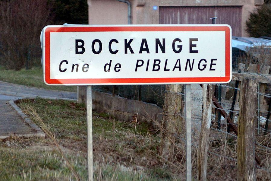 Bockange, panneau d'entrée.