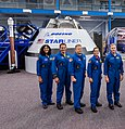 Boeing CST-100 Starliner and astronauts 2018.jpg