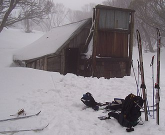 Bogong High Plains - Wallace's Hut in winter