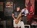 Bon Temps sax guitar June 2010.JPG